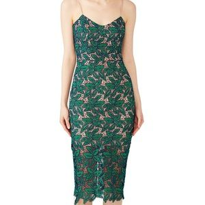 Dress the Population Green Lace Aurora Dress